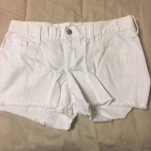 White old navy diva shorts cut offs